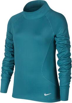 Nike Pro Warm Langarmshirt Mädchen grün