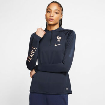 Nike FFF Frankreich Trainingsshirt Damen blau