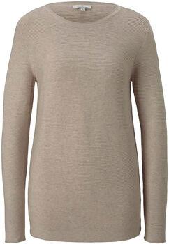 TOM TAILOR New Ottoman Pullover Damen cremefarben