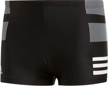 ADIDAS Rubber-Graphic Boxer-Badehose Herren schwarz