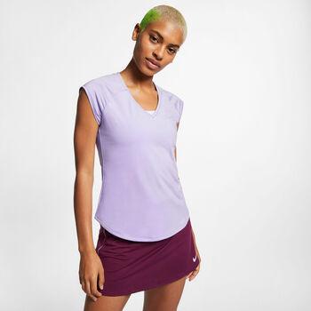 Nike Court Pure T-Shirt Damen lila