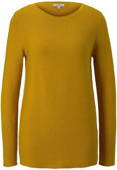 TOM TAILOR New Ottoman Pullover Damen gelb
