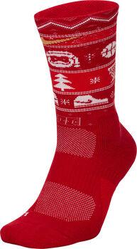Nike Elite Crew X-Mas Socken rot