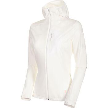 MAMMUT Aconcagua Light Midlayer Fleecejacke mit Kapuze Damen weiß
