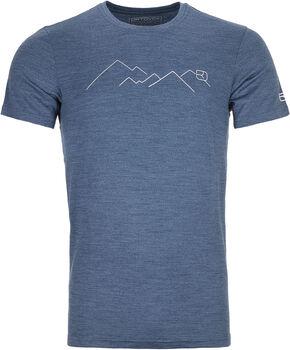 ORTOVOX 185 Merino Mountain T-Shirt Herren blau