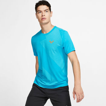 Nike ct Rafa Tee Tennisshirt Herren blau