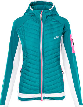 CMP Fix Hood Fleecejacke Damen grün