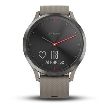 Garmin vivomove HR Sport Hybrid-Smartwatch braun