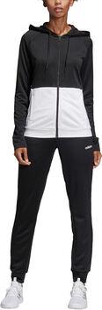 adidas WTS Lin FT Hood Jogginganzug Damen schwarz