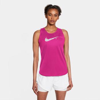 Nike Swoosh Run Tanktop Damen rot