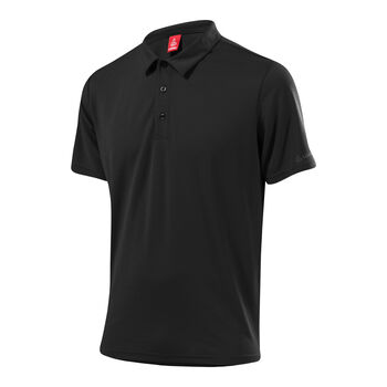 LÖFFLER Poloshirt Tencel Herren schwarz