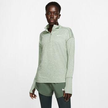 Nike Element Langarmshirt mit Halfzip Damen grün