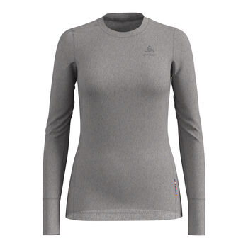 Odlo Natural 100% Merino Warm Unterhemd Damen grau