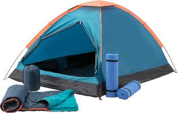McKINLEY Zelt-Set: Zelt + 2 Matten + 2 Schlafsäcke blau