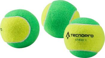 TECNOPRO BASH Stage 1 Tennisbälle 3er Pack grün