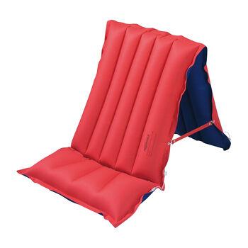 Royalbeach Gewebe Sitzliege-/Luftmatratze rot