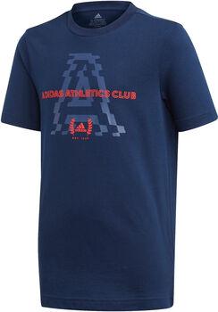 ADIDAS Athletics Club Grafik T-Shirt Jungen blau