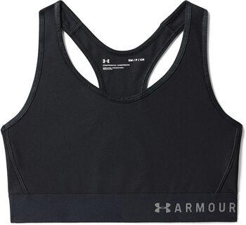 Under Armour Mid Keyhole Sport-BH Damen schwarz