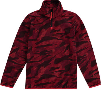 O'Neill Camo Fleece Hz Sweater mit 1/2 Zipp rot