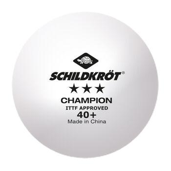 Schildkröt 3 Star Champion Tischtennisbälle weiß
