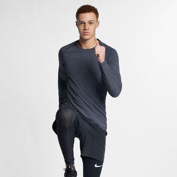 Nike Pro Shirt langarm  Herren grau