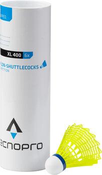 TECNOPRO XL 400 Badminton Bälle 6er Pack gelb