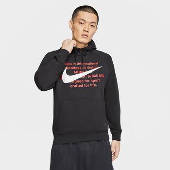 Nike Sportswear Swoosh Hoodie Herren schwarz
