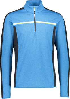 CMP Sweat Langarmshirt mit Halfzip Herren blau