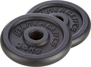 ENERGETICS Guss Hantelscheiben 0,5 kg - 5 kg cremefarben