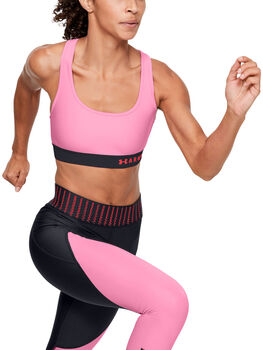 Under Armour Mid Crossback Sport-BH Damen pink