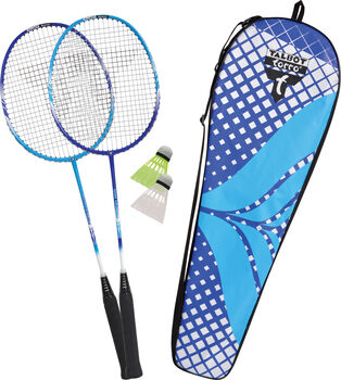 Talbot Torro Fighter Pro Badminton Set blau