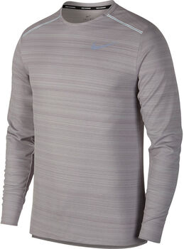 Nike Dry Miler Langarmshirt grau