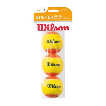 Wilson STARTER GAME 3er Tennisbälle, Stufe 2 weiß