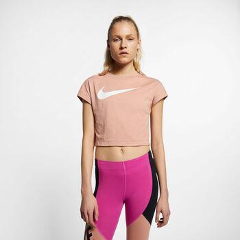 Nike Nsw Swsh Top Crop Shirt Damen pink