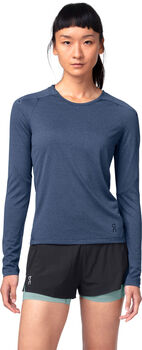 On Langarmshirt Damen blau
