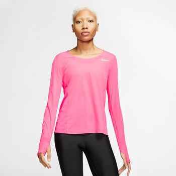 Nike City Sleek Langarmshirt Damen pink