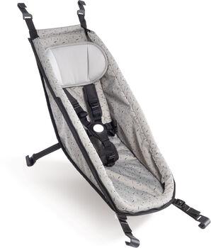 Croozer Babysitz für Fahrradanhänger grau