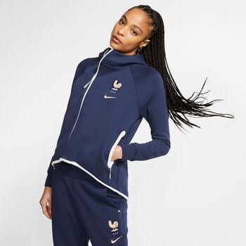 Nike FFF Frankreich Trainingsjacke Damen blau