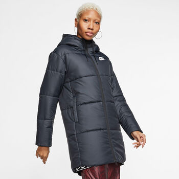Nike Sportswear Synthetic-Fill Hooded Parka Damen schwarz