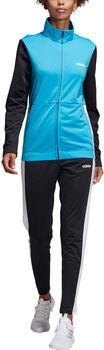 ADIDAS Plain Tricot Trainingsanzug Damen blau
