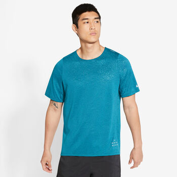 Nike Rise 365 Run Division T-Shirt Herren blau
