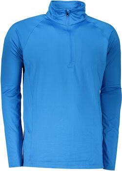 GTS Sportshirt Zipp Langarmshirt Herren blau