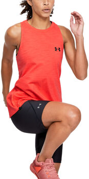Under Armour Charged Cotton Tanktop Damen rot