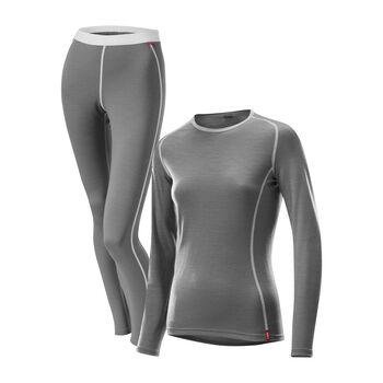 LÖFFLER Transtex® Merino Unterwäsche-Set Damen grau
