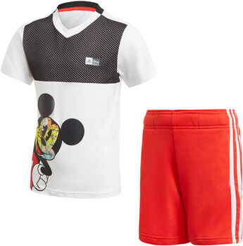 adidas Mickey Mouse Sommer Set T-Shirt + Shorts weiß