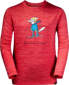 Skiing Wolf Langarmshirt