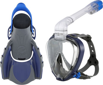 AquaLung Set Smart Snorkel blau