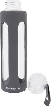 ENERGETICS Glass Bottle Trinkflasche grau