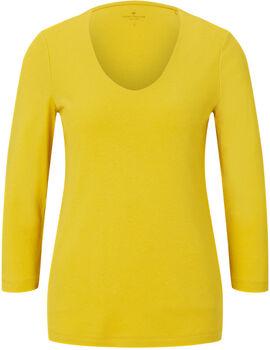 TOM TAILOR Double Front 3/4 T-Shirt Damen gelb