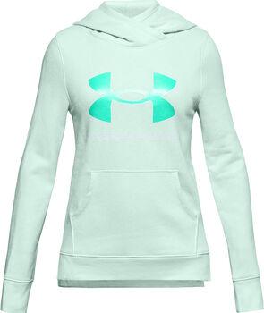 Under Armour Mädchen Rival Fleece Hoodie mit Logo blau